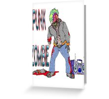 Punk Zombie Greeting Card