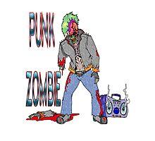 Punk Zombie Photographic Print