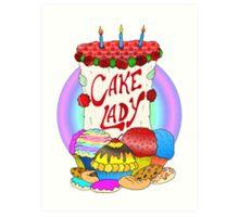 Cake lady Art Print