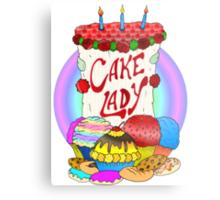 Cake lady Metal Print