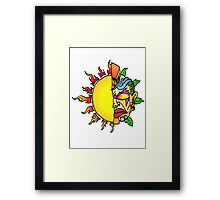 Tiki Sun Framed Print