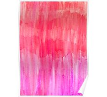 Hot Pink, Melon & Magenta Watercolor Abstract Poster