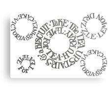 Biscuits Circle Metal Print