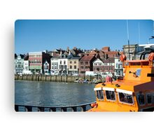 whitby lifeboat Canvas Print