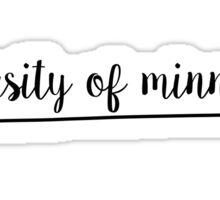 University of Minnesota Arrow Sticker