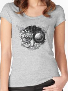 Owl Day & Owl Night Women's Fitted Scoop T-Shirt