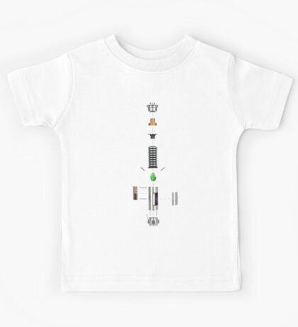 Lightsaber Cross-section Kids Tee