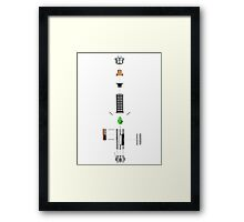 Lightsaber Cross-section Framed Print