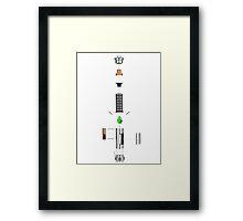 Lightsaber Cross-section Framed Print