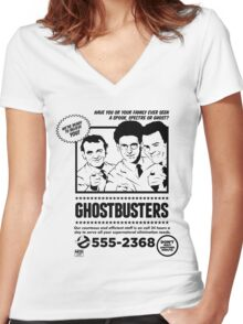 Ghostbusters Women's Fitted V-Neck T-Shirt