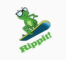 Cool frog on a snowboard.  Unisex T-Shirt