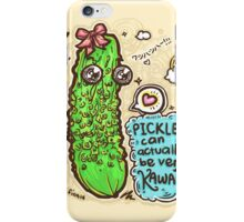 Pickles Can Be Very Kawaii! iPhone Case/Skin