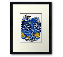 Rubicon Mango - Crushed Tin Framed Print