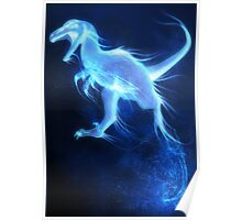 Deinonychus Patronus Charm Poster