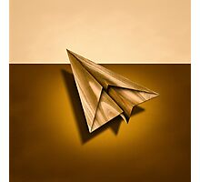 Paper Airplanes of Wood 1 Photographic Print