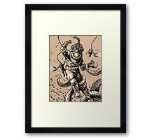 Danger Dive Framed Print