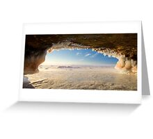 Ice Cave, Apostle Islands,WI Greeting Card