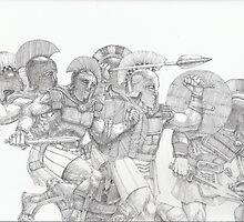 Greek Warriors by matthewsart