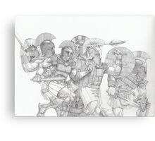 Greek Warriors Canvas Print