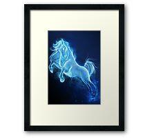 Horse Patronus Charm Framed Print