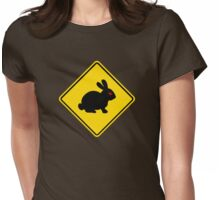 Beware of Rabbits Womens Fitted T-Shirt