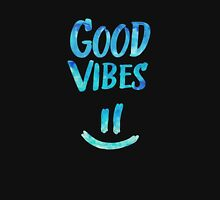 Good Vibes - Funny Smiley Statement / Happy Face (Blue Stars Edit) Unisex T-Shirt