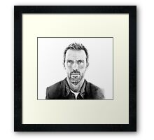 Portrait of James Hugh laurie, pencil Framed Print