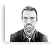 Portrait of James Hugh laurie, pencil Canvas Print
