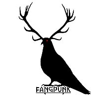 Evil Stag Pigeon T Shirt Photographic Print
