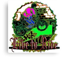 Live to Ride 15 Canvas Print