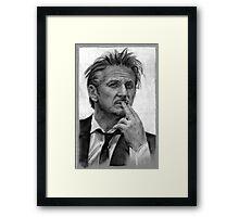 Portrait of Sean Penn Framed Print