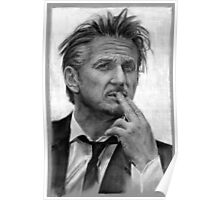 Portrait of Sean Penn Poster
