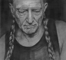Portrait of Willie Nelson by GB-works