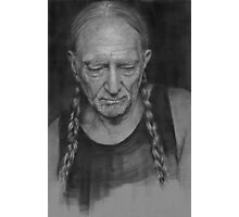 Portrait of Willie Nelson Photographic Print