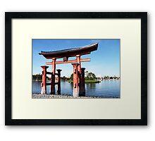 epcot - iv - japan pavilion  Framed Print