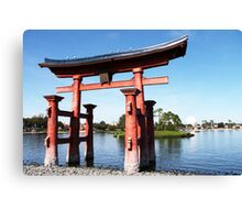 epcot - iv - japan pavilion  Canvas Print