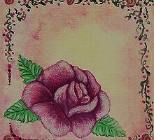 Pink Rose by WildestArt