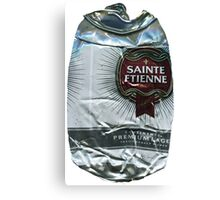 St Etienne - Crushed Tin Canvas Print