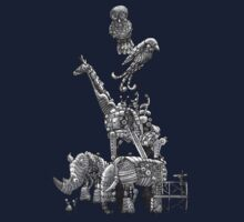 The Clockwork Menagerie (Silver) Kids Tee