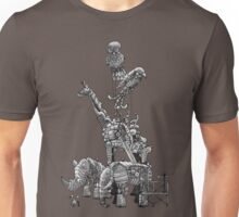 The Clockwork Menagerie (Silver) Unisex T-Shirt
