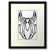 Stylized Spider-Man Emblem Framed Print