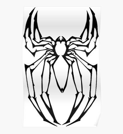 Stylized Spider-Man Emblem Poster