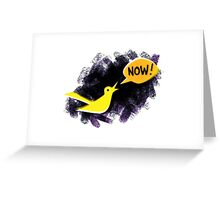 Climate Canary in the Coal Mine Greeting Card