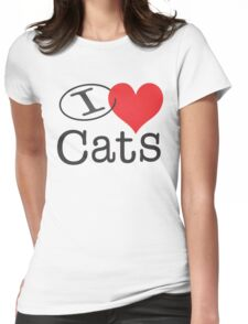 I <3 Cats Womens Fitted T-Shirt