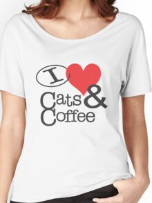 I <3 Cats & Coffee Women's Relaxed Fit T-Shirt