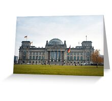 reichstag facade Greeting Card