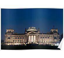 floodlit reichstag Poster
