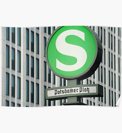 S-Bahn Sign Poster