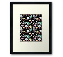 Funny pattern of kittens  Framed Print