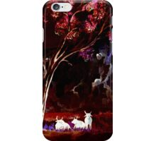 Ghost Cows (Afternoon Shade Watercolour Colour Negative) iPhone Case/Skin